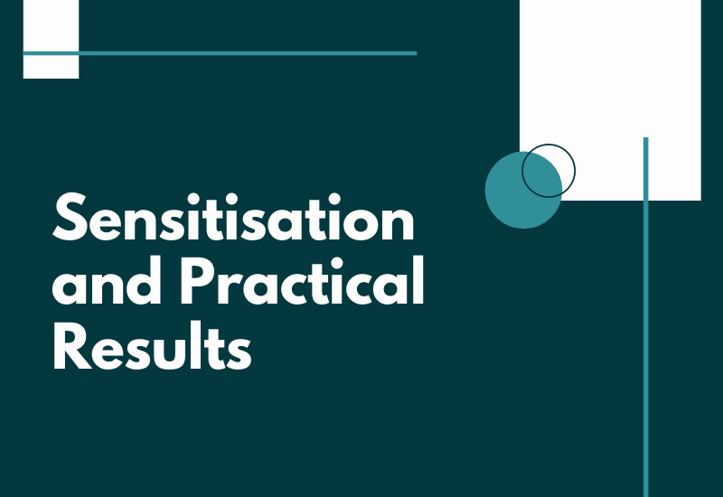 Sensitisation and practical results