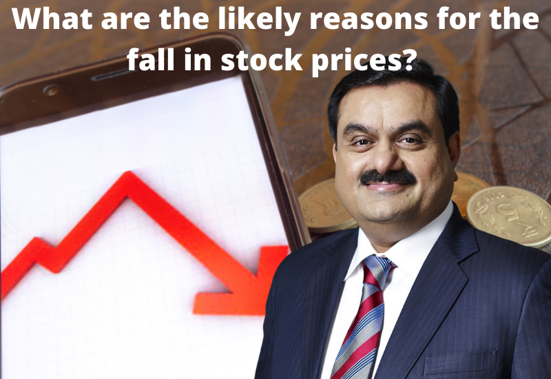 fall in stock prices