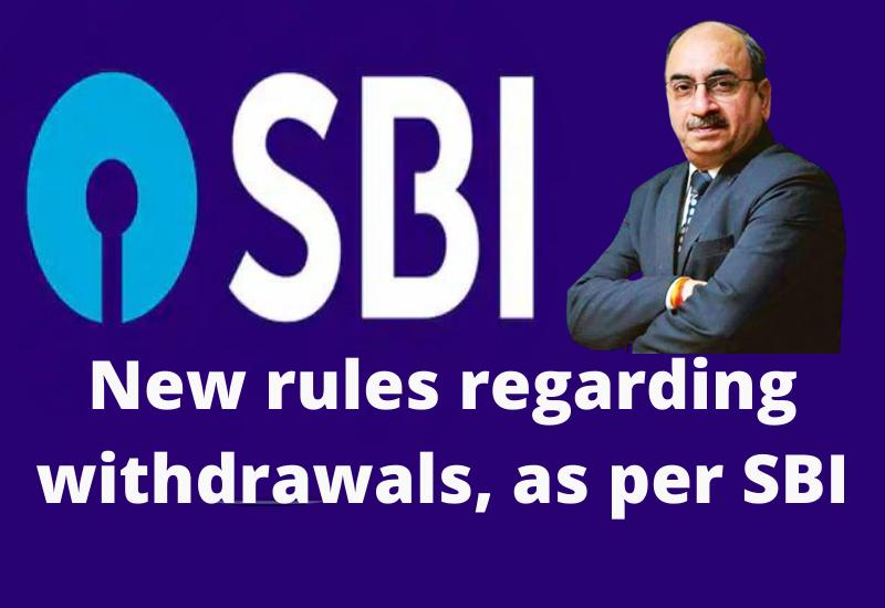 New rules regarding withdrawals