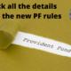 New PF rules