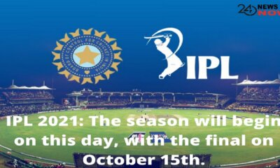 The season will begin on this day, with the final on October 15th.