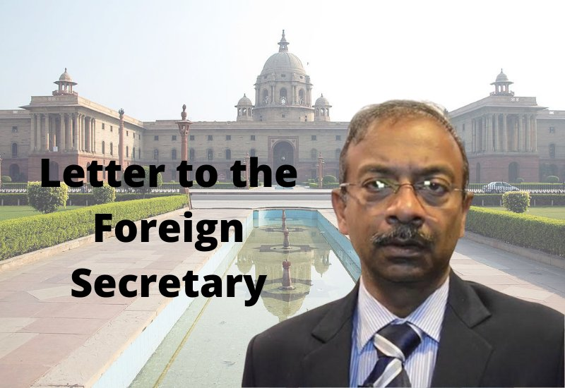 Letter to the Foreign Secretary
