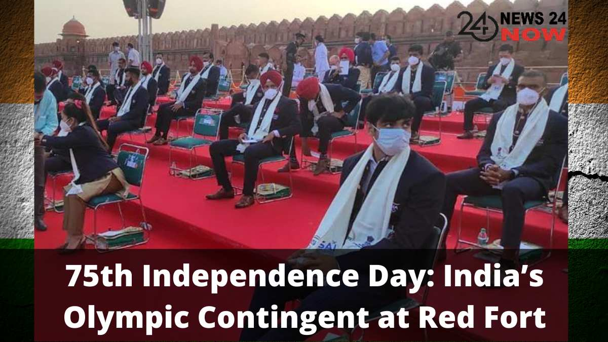 75th Independence Day India's Olympic Contingent at Red Fort