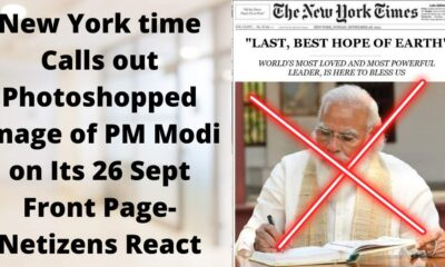 New York time calls out photoshopped image of pm modi on its 26 sept front page- netizens react