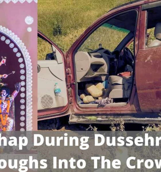 A Mishap During Dussehra Car Ploughs Into The Crowd